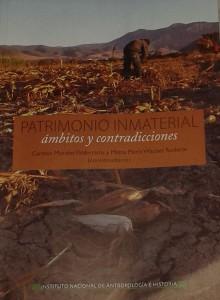 """Portada del libro """"PATRIMONIO INMATERIAL. ámbitos y contradicciones."""""""